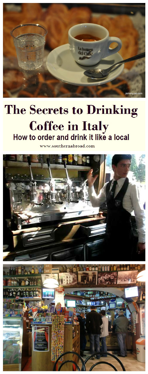 Drinking Coffee in Italy