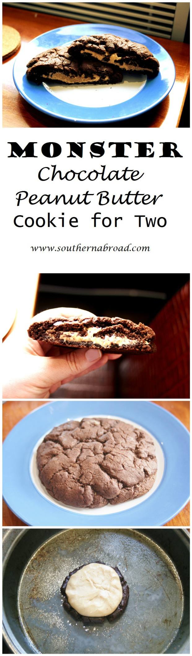 Monster Chocolate Peanut Butter Cookie For Two